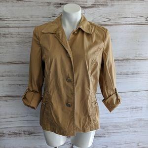 Charter Club Light weight khaki jacket